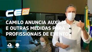 Camilo anuncia auxílio e outras medidas para profissionais de eventos
