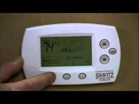 Honeywell Thermostat 5000 And 6000 Programming Youtube border=