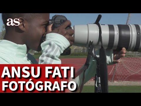 Ansu Fati le hace una sesión fotográfica a Reguilón | Diario As