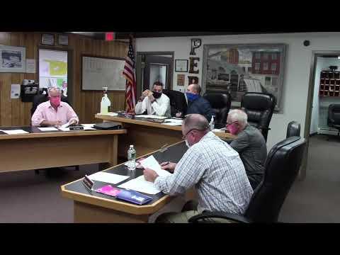 Peru Town Board Meeting  10-26-20