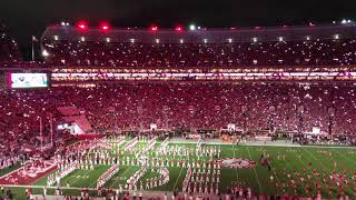 Alabama Football's new LED lights & team entrance are AMAZING!