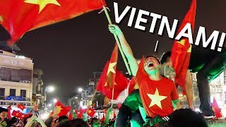 VIETNAM GOES CRAZY after defeating Qatar in Semi-Finals of AFC U-23 2018!!!