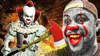 "Playing GTA 5 As PENNYWISE ""IT"" CLOWN! (Mods)"