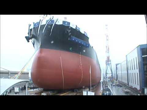 常石造船 進水式 「カムサマックス バルカー:KAMSARMAX」(2018/9/20):Launching Ceremony