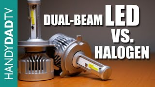 Dual Beam LED vs. Halogen in Reflector Headlights