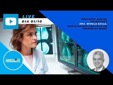 Rhaldney Santos entrevista a radiologista Mirela Ávila