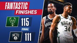 FINAL 4:08 & OT of WILD Game 7 Bucks vs Nets 🔥🔥