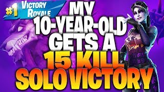 """I Promised My Son The """"Dark Bomber"""" IF He Got A Solo Victory (My 10-Year-Old Gets 15 Eliminations)"""