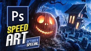 All Hallows Eve   Speed Art (Photoshop)   October Special