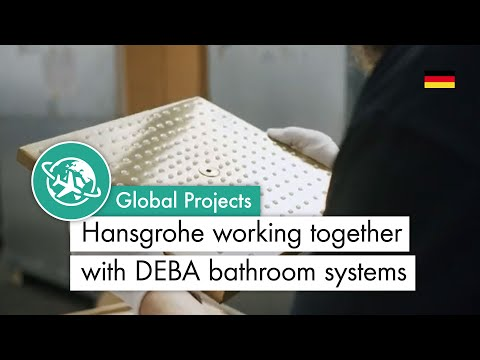 Hansgrohe working together with DEBA bathroom systems