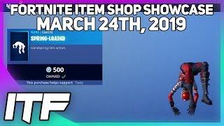 Fortnite Item Shop *NEW* SPRING-LOADED EMOTE! [March 24th, 2019] (Fortnite Battle Royale)