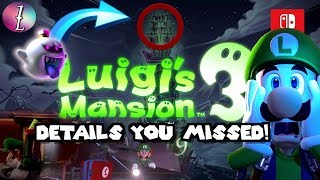 Luigi's Mansion 3 The Things You MISSED!!! [Analysis/ Theory]