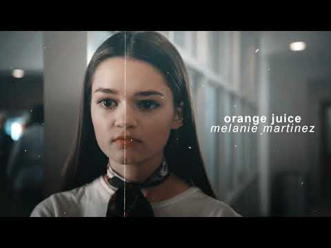 ( slowed down/pitched ) orange juice