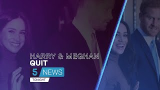 """The Queen is """"supportive"""" of Harry and Meghan's choice to quit British royal family 