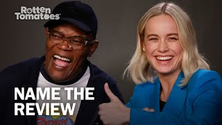 "Captain Marvel's Samuel L. Jackson and Brie Larson Play ""Name the Review"""