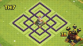 Clash Of Clans Town Hall 7 Trophy Base Layout