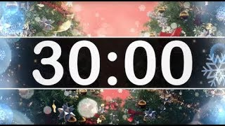 30 Minute Timer with Christmas Music - Jingle Bells - Instrumental Christmas Music for Kids!