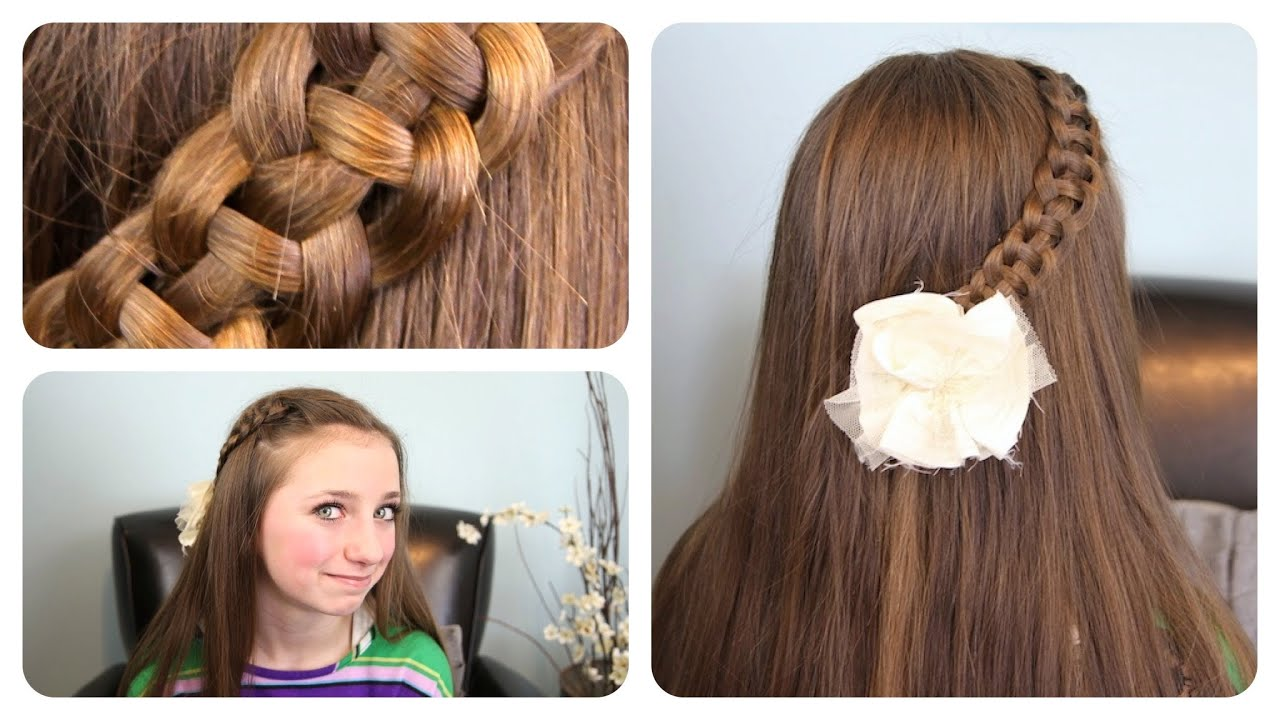 "Hair Styles With Braids: 4-Strand ""Slide-Up"" Braid"