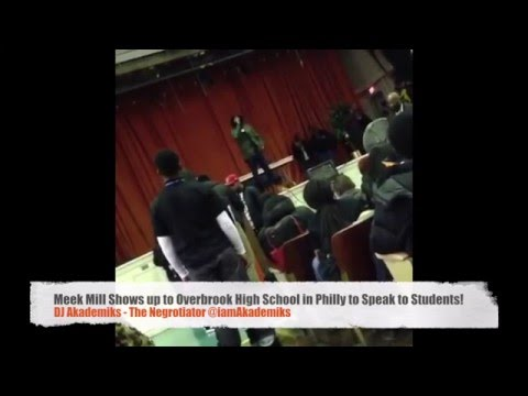Meek Mill Shows Up By Surprise At Overbrook High School in Philly and Gives Motivational Speech.