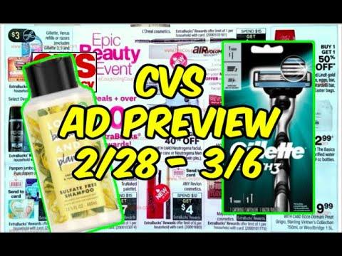 CVS AD 2/28 - 3/6   MoneyMaker Razors, Hair Care, Cosmetics & More!