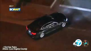LAPD chase a stolen BMW over 150 MPH  on the LA Freeway