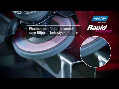 Högblank yta med Norton Rapid Blend ytkonditioneringsrondell