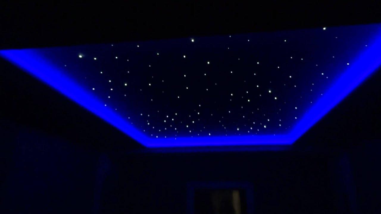 Star Ceiling In Cinema Room Youtube