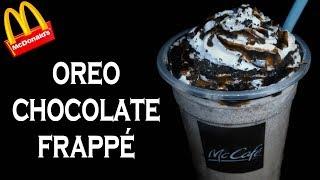 Make Oreo Chocolate Frappé like McDonald's McCafe   McDonald's Frappe Recipe   yummylicious