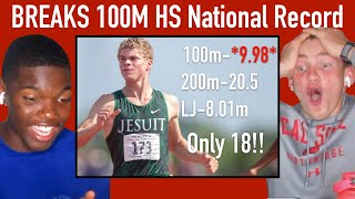 REACTING TO MATTHEW BOLING | FASTEST HIGH SCHOOLER EVER *9.98*