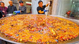 Chinese Street Food - 200 KG Street Hot Pot (SPICY!!!) + RARE Street Food Tour of Kaifeng, China!