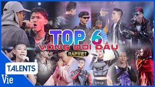 Nhìn lại TOP 6 MÀN RAP CHIẾN đỉnh của đỉnh, nổi bật tại Vòng Đối Đầu |  Rap Việt Best Collection