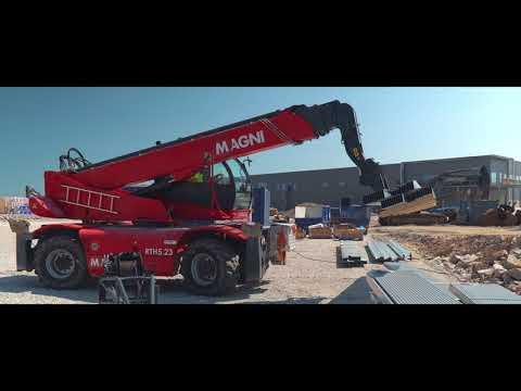 Stommarna till DSVs nya logistikcenter  i Rosersberg kommer på plats