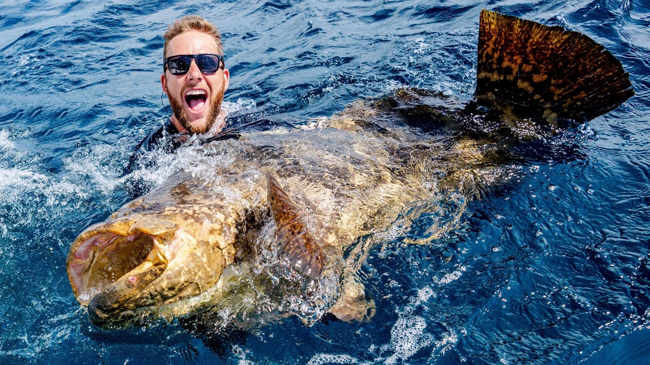 Goliath Grouper Fishing Battle | Dude Perfect