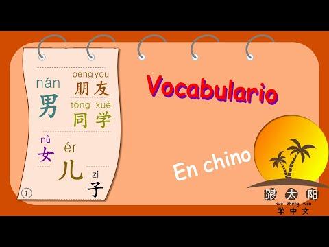 Aprender chino mandarín lección 36, hijo, hija, amigo, compañero, novio, novia en chino