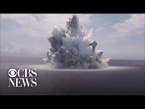 Watch: U.S. Navy sets off giant explosion to test USS Gerald R. Ford