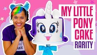 How To Make A FABULOUS My Little Pony RARITY UNICORN Funfetti CAKE | Yolanda Gampp | How To Cake It