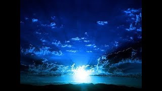 Relaxing Deep Sleep Music with Ambient Blue Nightlight Relaxing Music for Sleeping   10 Hours!