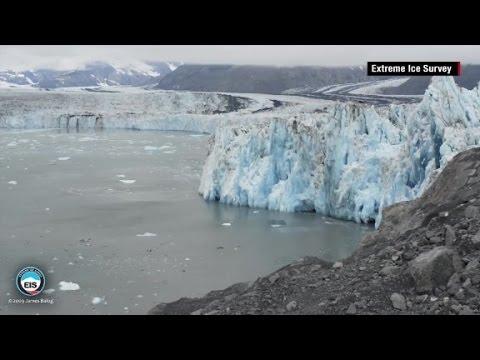 Glacier melt time lapse