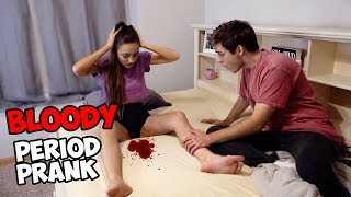 PERIOD PRANK ON BOYFRIEND! *His Reaction*