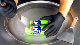 ASMR - Fanta Exotic Ice Cream Rolls | oddly satisfying Fanta Tapping & Scratching Tingle - fast ASMR
