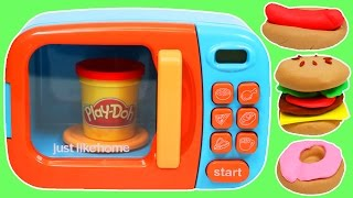 Make Pretend Play Doh Foods with Microwave Oven!