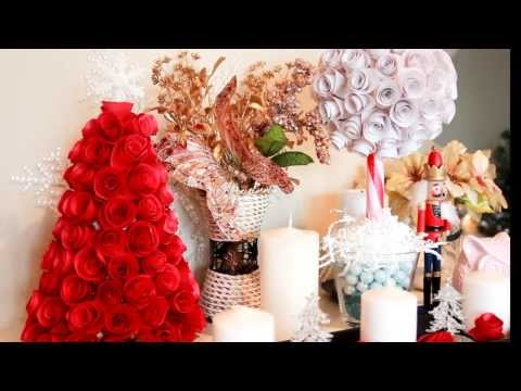 ❄ Rose Paper Ball-Simple Christmas Tree {Decor} - Smashpipe Style