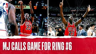 Michael Jordan Clinches 6th Title With