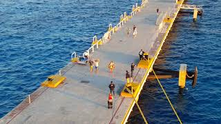 Watch Cruise Ship Pier Walkers Become RUNNERS When THIS Happens! Hilarious!