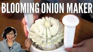 Great American Steakhouse ONION MAKER Product TEST | Emmy Gets New Glasses