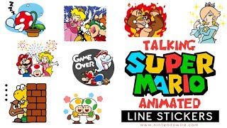 Even More Super Mario Animated Stickers | Line Sticker Showcase