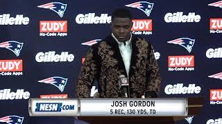 Josh Gordon Week 9 Packers vs. Patriots Postgame Press Conference