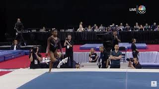 Simone Biles - Triple Twisting Double Back! - Floor - 2019 Nationals Day 2