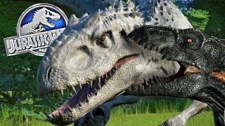 INDORAPTOR Vs Spinosauros Vs Indominus Vs T-Rex! Jurassic World Evolution #4