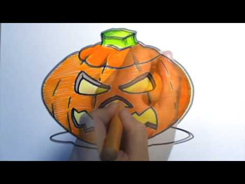 Learn to draw a spooky pumpkin with STABILO!